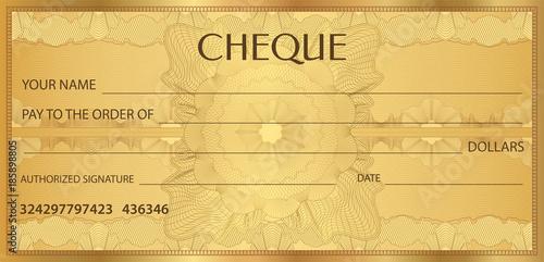Check (cheque), Chequebook template Wallpaper Mural