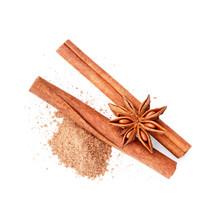 Cinnamon Sticks Isolated On Wh...