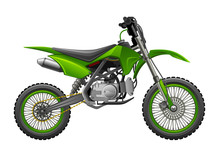Off-road, Green, Motorcycle