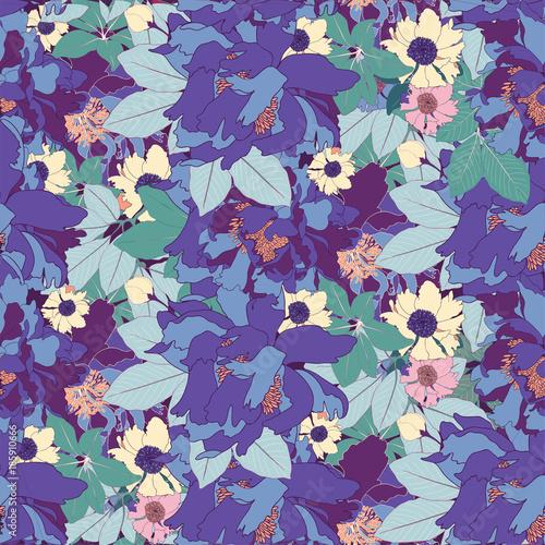 niebieska-piwonia-botaniczny-wektor-wzor