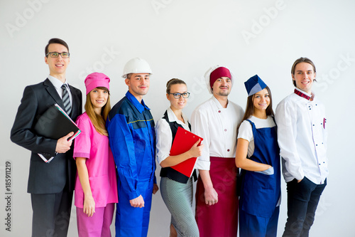 Fotomural People of different professions