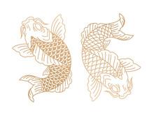 Koi Fish. Japanese Carp Fish. ...