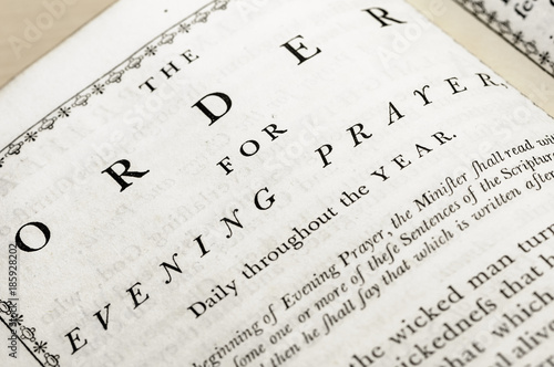 Order for Evening Prayer in a very old version of the Book of Common Prayer (Cof Tableau sur Toile