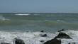 sea landscape, restless Azov Sea