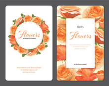 Rose Flowers In Orange Color A...
