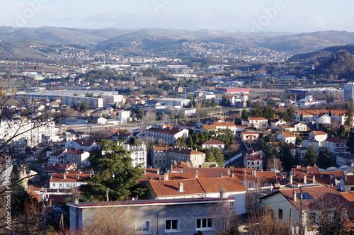 Fotografia, Obraz vue sur la ville de Saint-Etienne, Loire