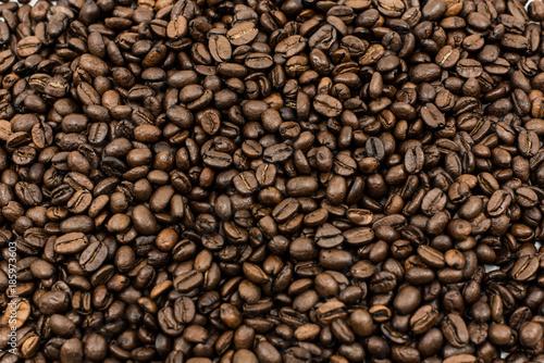 Deurstickers koffiebar Roasted coffee beans background