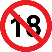 18 Years Limitation Sign