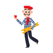 French Man In Striped Shirt, B...
