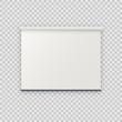 Realistic blank empty vector projection screen projector board mockup template