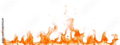 Fotobehang Vuur Fire flames isolated on white background.