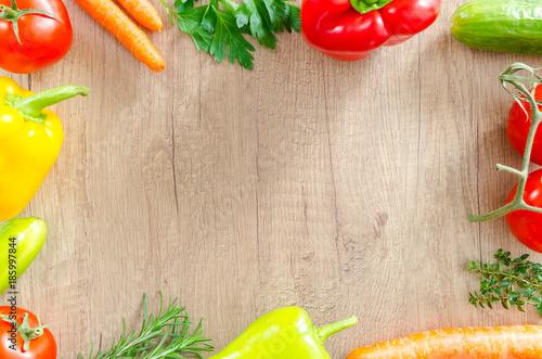Fototapeta 野菜フレーム Vegetable frame obraz
