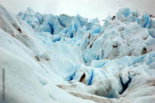 Traking en Glaciar Argentina Canvas Print
