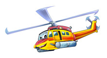 Cartoon Plane - Helicopter - I...