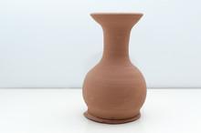 Handmade Clay Vase With White ...