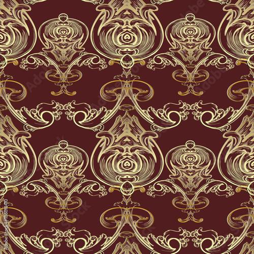 barokowy-wektor-wzor-adamaszek-ciemny-czerwony-kwiatowy-tlo-tapeta-ilustracja-z-rocznika-zlotej-linii-sztuki-maswerk-kwiaty-przewijania-lisci-antyczny-ornament-w-stylu-wiktorianskim-ozdobna-tekstura