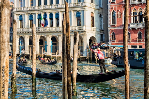 Spoed Foto op Canvas Gondolas Venedig, Canal Grande