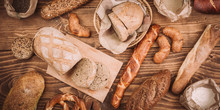 Many Mixed Baked Breads And Ro...