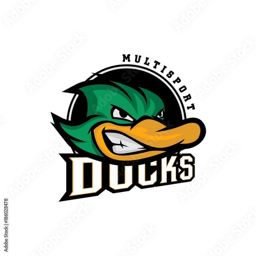 Fotografie, Tablou  Duck Logo Vector Art