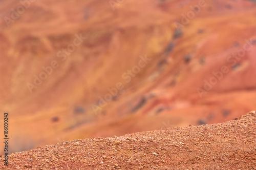 Bauxite mine raw bauxite on surface Canvas Print