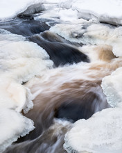 Close-up From River Rapids At ...