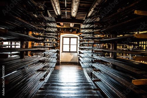 Photo mittelalterliche Waffenkammer