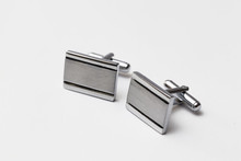 Cufflinks Silver On White Back...