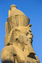 Colossi Of Ramesses II In The First Court, Luxor Temple, Luxor, Egypt