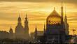 canvas print picture - Dresden, Yenidze, Silhouette, Sachsen