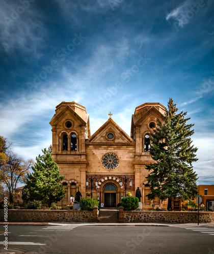 Naklejka premium Bazylika Katedralna św. Franciszka z Asyżu - Santa Fe, NM