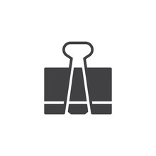 Paper Clip Icon Vector, Filled...