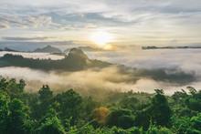 Sunrise At Baan Jabo In Thaila...