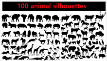 Collection Of Animal Silhouett...