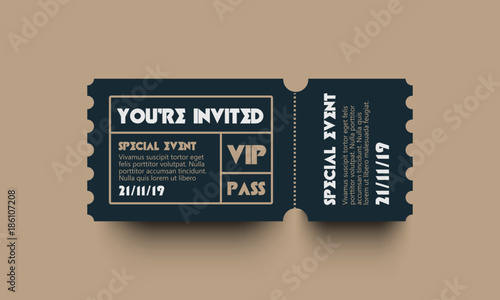 you are invited vip pass party entry ticket design adobe stock で