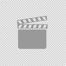 Film Flap Vector Icon Eps 10.