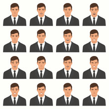 Vector Illustration Of A Face...