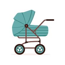 Blue Baby Pram Or Stroller, Sa...