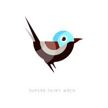 Colored Superb Fairy Wren Icon...