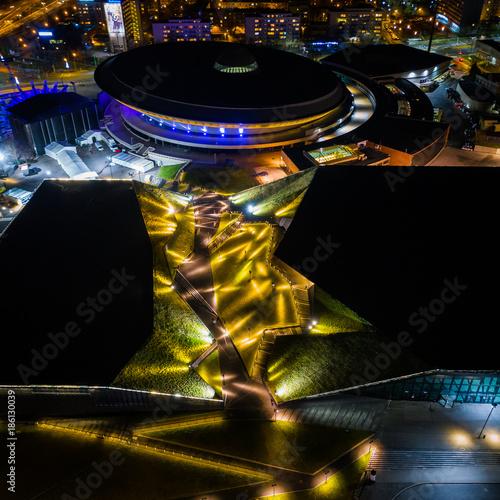 Spodek Katowice widok z drona