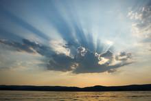 Rays Of Sun Light Breaking Thr...