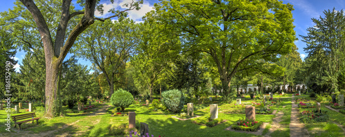 Canvas Prints Cemetery Hauptfriedhof in Frankfurt am Main