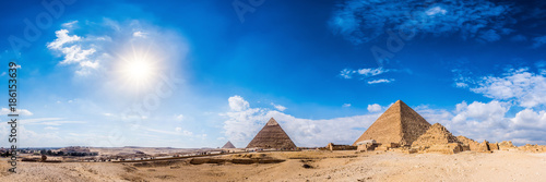 Recess Fitting Egypt Panorama of the area with the great pyramids of Giza, Egypt