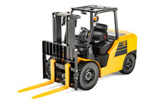 Forklift Truck, 3D Rendering