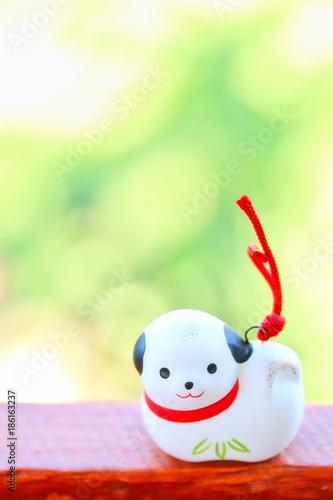 Fotografia  Japanese Dog Ornament For Celebrating New Year
