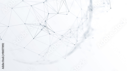 Fotografia  abstract futuristic network on background illustration