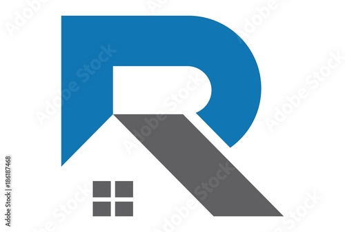 Photo  abstract home letter R logo