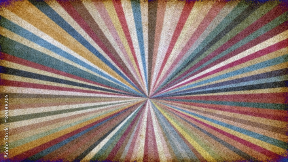 Abstract illustration of retro colors
