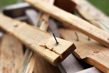 Rusty Nail Pierce The Timber. ...