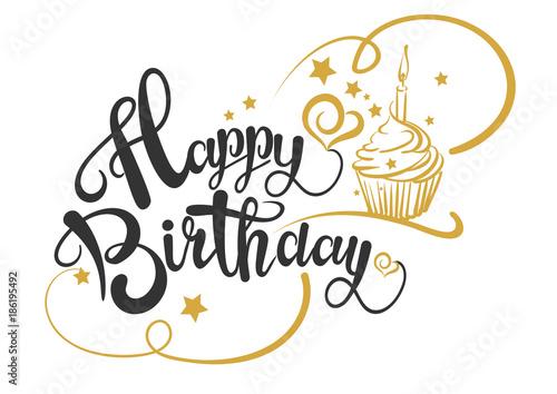 Happy Birthday Card, Vector