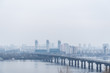 panarama view on city in fog